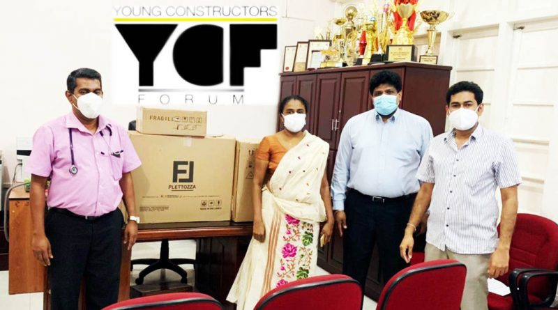 Young Constructors' Forum makes donation of critical medical equipment to Kalubowila Hospital